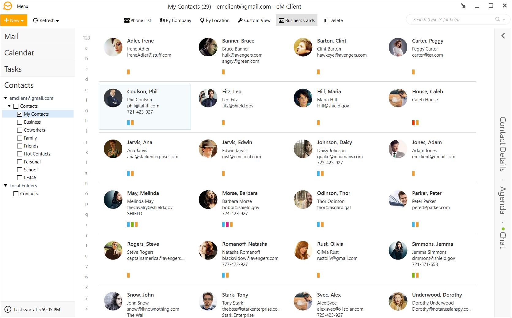 Screenshots   eM Client