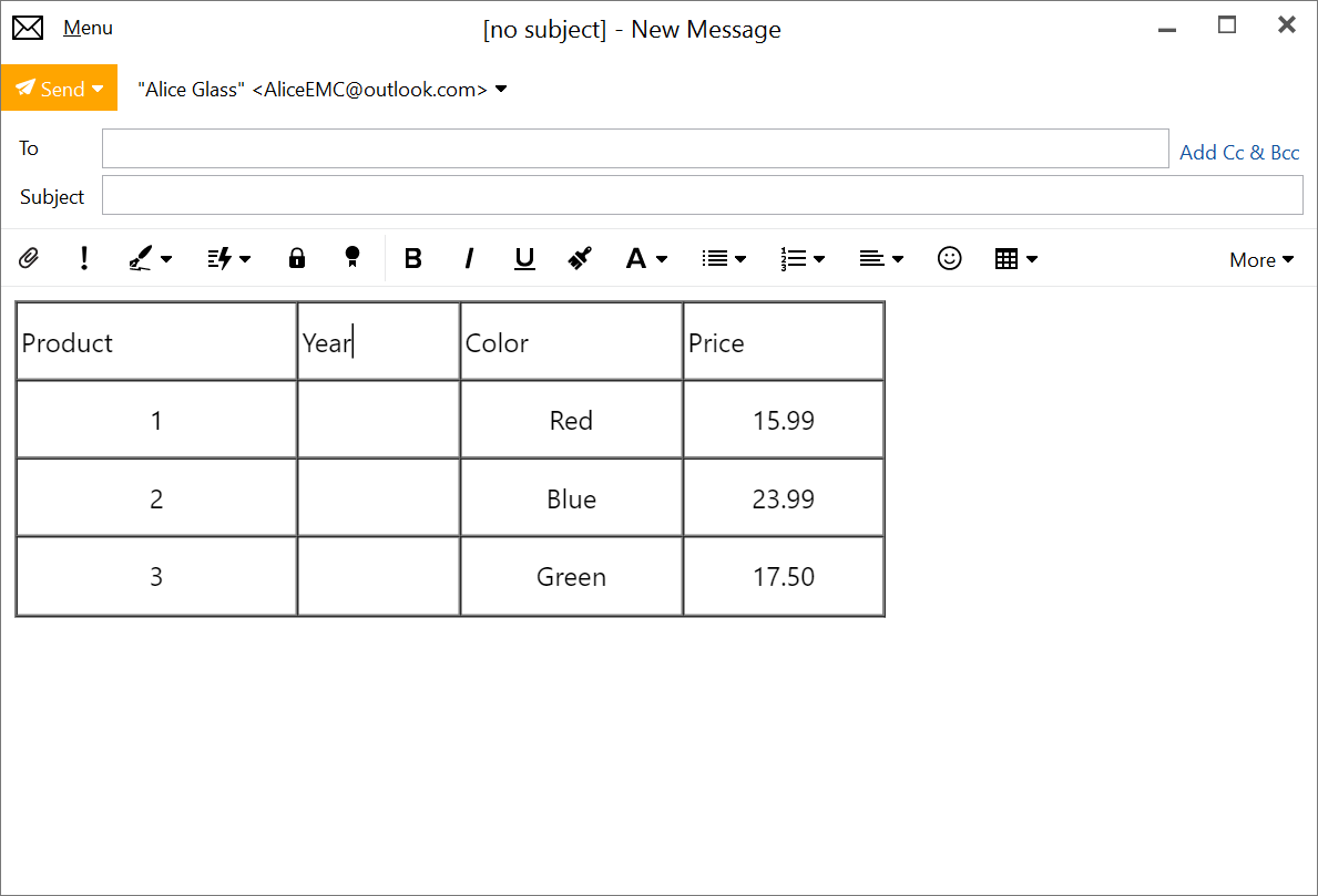 Improved Table Editor