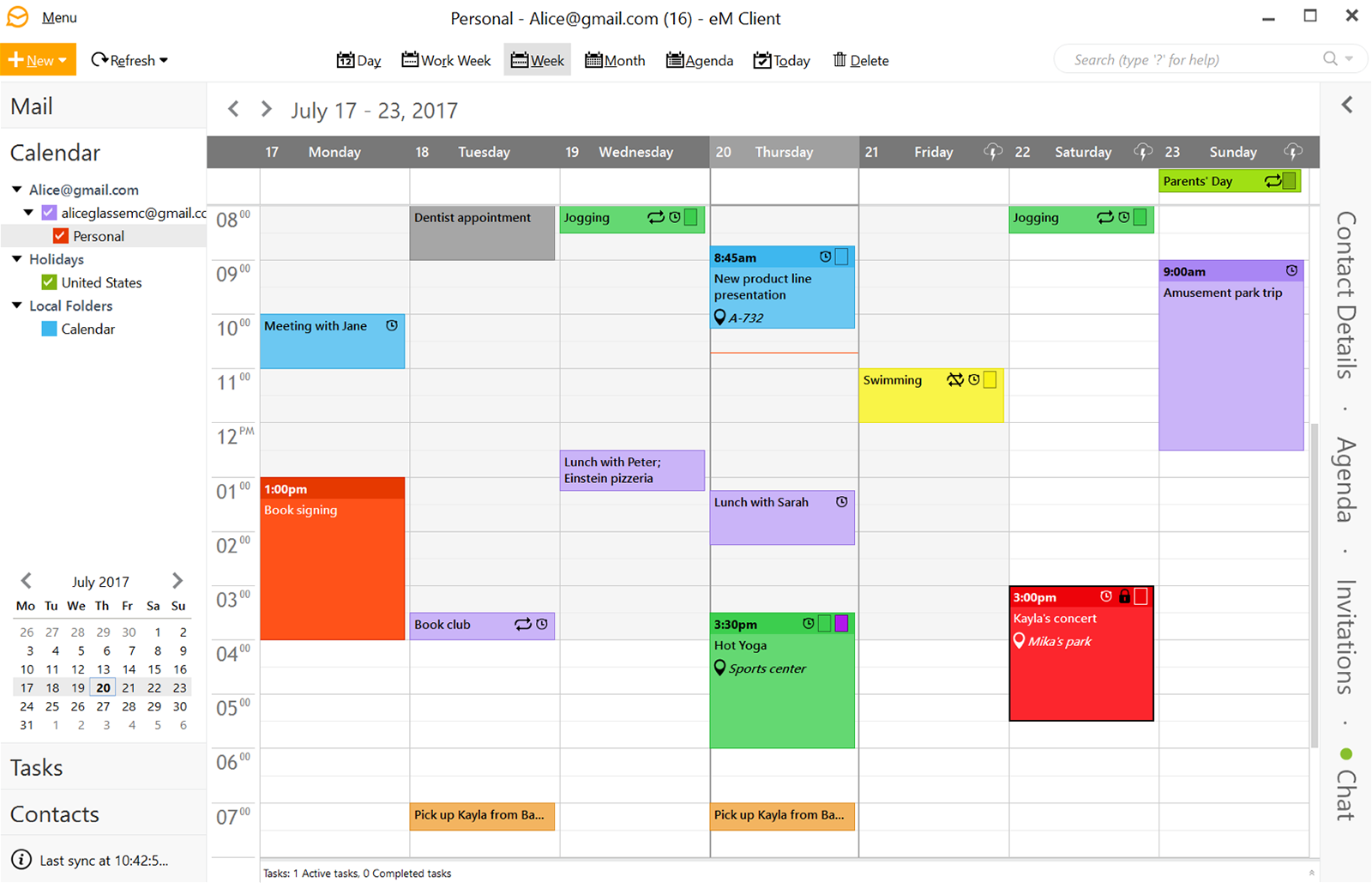 Features Calendar Tasks Em Client Em Client