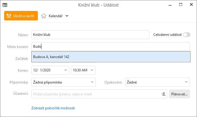 eM Client 8.1: Location suggestion