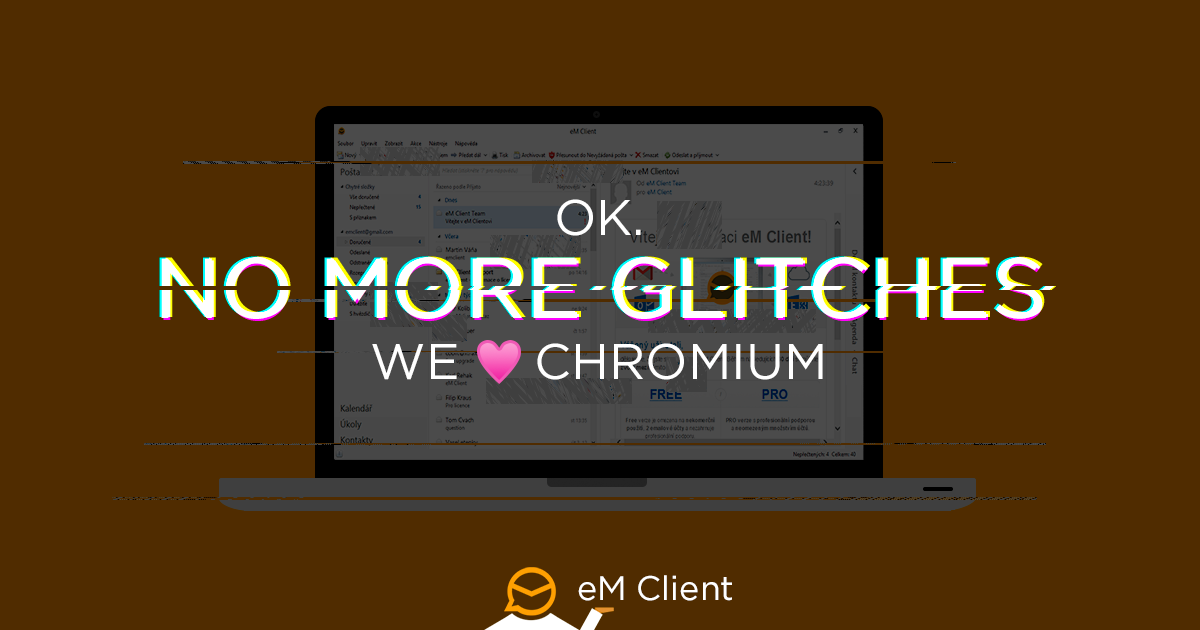 eM Client adds support for Chromium