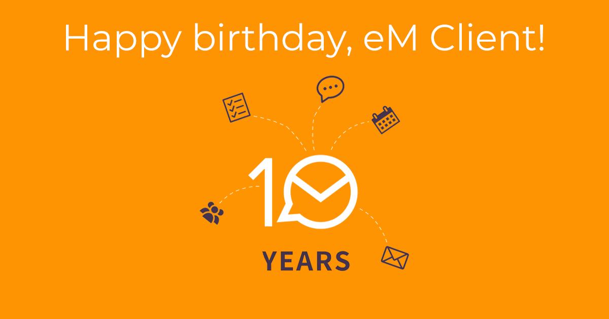 eM Client anniversary banner