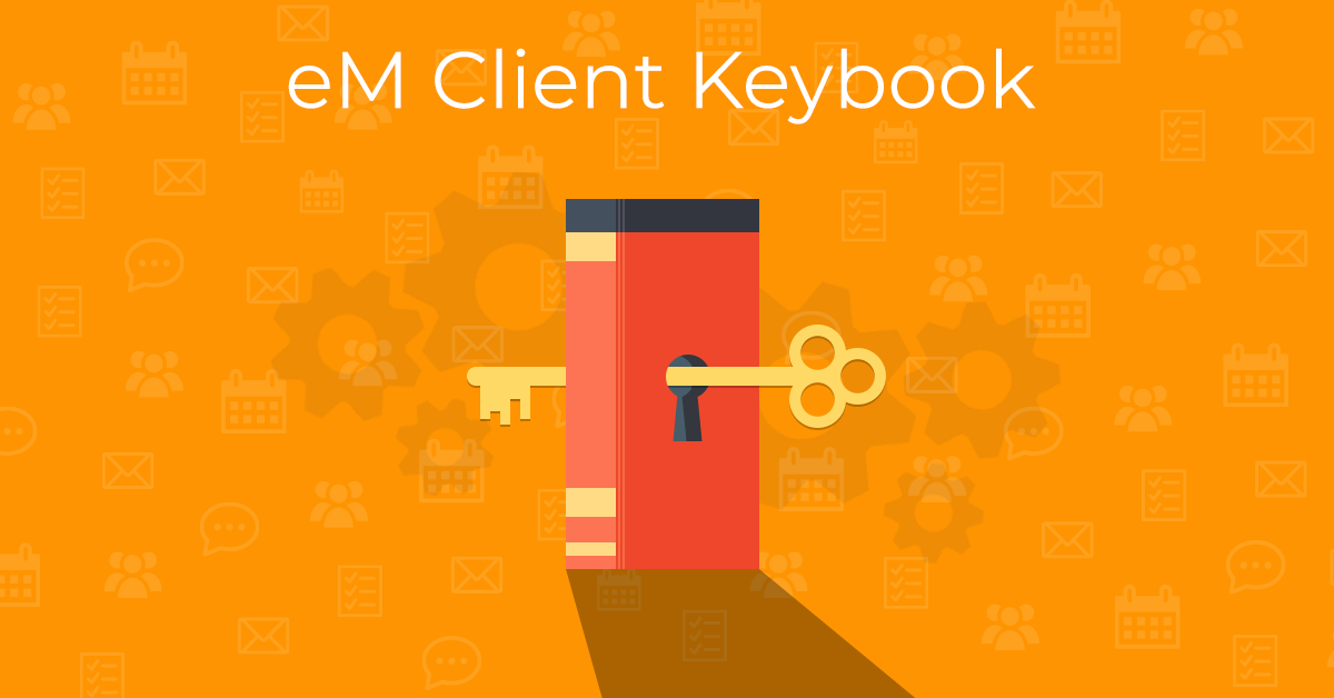 eM Client Keybook Illustration