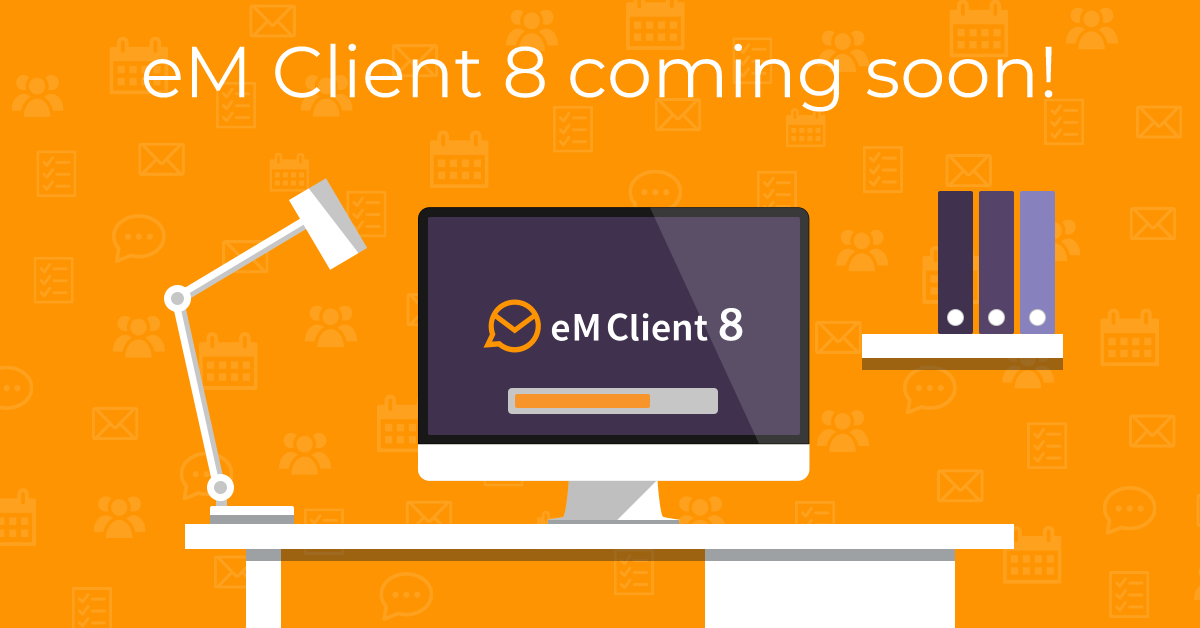 eM Client 8 coming soon banner