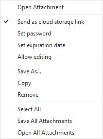 eM Client: Cloud attachments setup