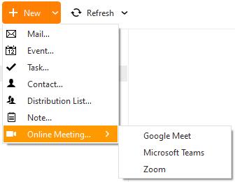 eM Client: Start an Online Meeting