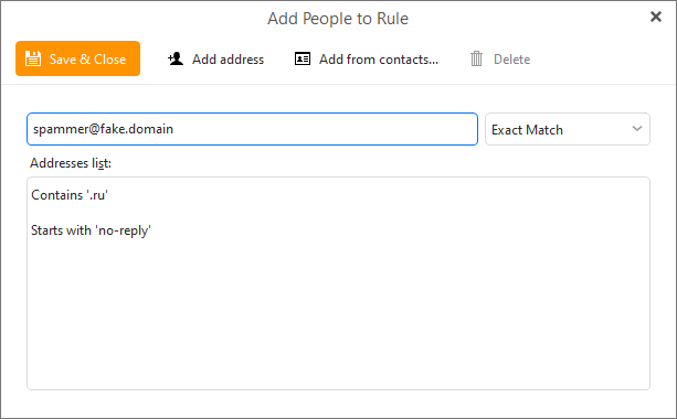 eM Client 8.2: New rules options and conditions