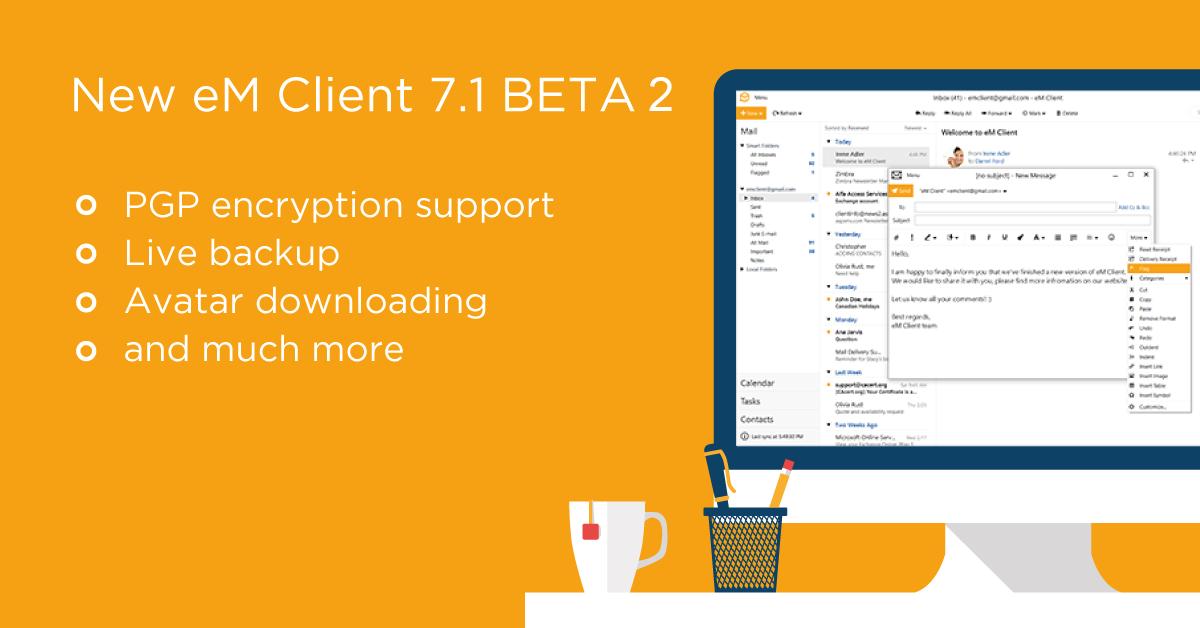 eM Client 7.1 BETA 2